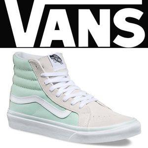 Vans Sk8 Hi Slim Bay True White Sz 7